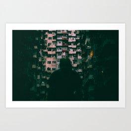 Hong Kong Darklife Art Print