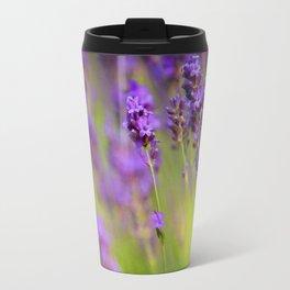 Textured background of lavender flowers Travel Mug
