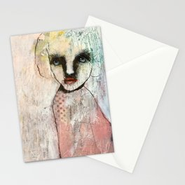 Monochrome portrait Stationery Cards