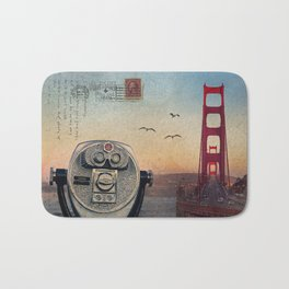 GOLDEN GATE RAIN - San Francisco Bath Mat