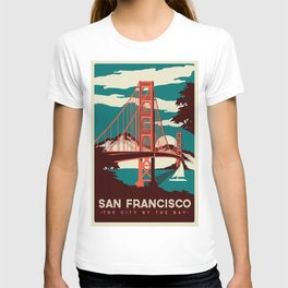 vintage poster san francisco T-shirt