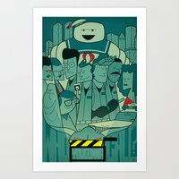 ghostbusters Art Prints featuring Ghostbusters by Ale Giorgini