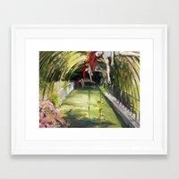 agnes Framed Art Prints featuring Agnes descending by Dawn Dudek