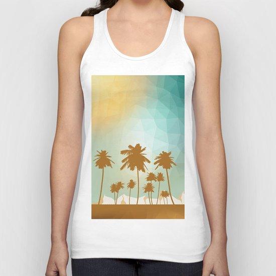 Palms at desert Unisex Tank Top