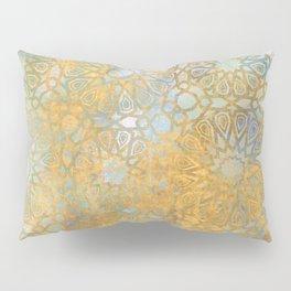 gold arabesque vintage geometric pattern Pillow Sham