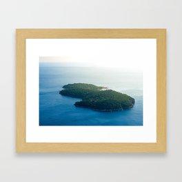 Lokrum Island Framed Art Print