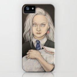 Luna Lovegood and rabbit patronus iPhone Case