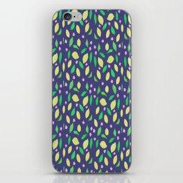 Lemons on navy iPhone Skin