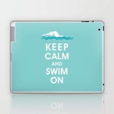 Keep Calm and Swim On (For the Love of Swimming) Laptop & iPad Skin