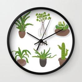 Simple Plants Wall Clock