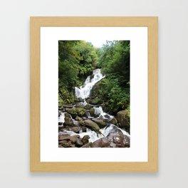 Irish Waterfall Oil Finish Framed Art Print