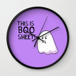 Grumpy Ghost Wall Clock