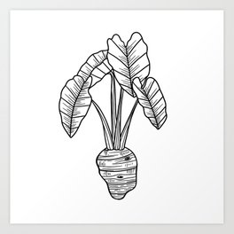 UrbanNesian Taro Art Print