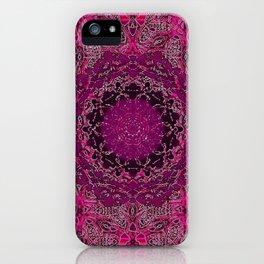 Raspberry Wisteria Mandala iPhone Case