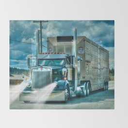 The Cattle Truck Throw Blanket