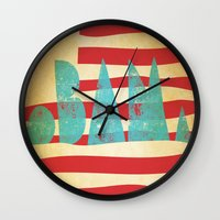 obama Wall Clocks featuring oBAMa by Josh Franke