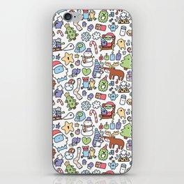Christmas Doodle iPhone Skin