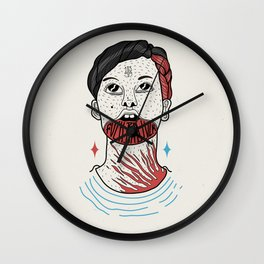 F**K BAD LUCK Wall Clock