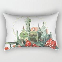 The Green Castle Rectangular Pillow