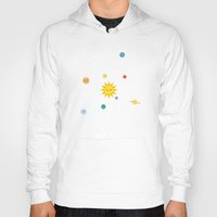 solar system Hoodies featuring Solar System by Sara Showalter