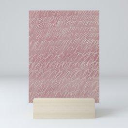 Cy Scribble in Rose Mini Art Print