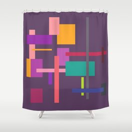 Imitation Mid-20th Century Abstract, No. 2 Shower Curtain