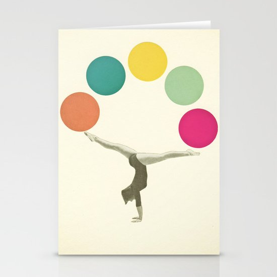Gymnastics II Stationery Cards