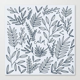 Calm botanic print Canvas Print