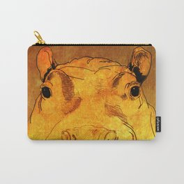 Golden Hippo Carry-All Pouch