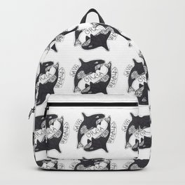Save The Orcas (50% of commission is donated to the World Wildlife Fund) Backpack