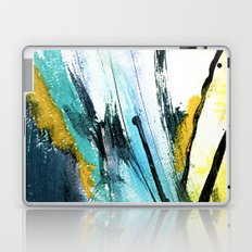 Splash: a vibrant mixed media piece in blues and yellows Laptop & iPad Skin