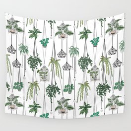 hanging pots pattern Wall Tapestry