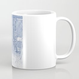 Blue Inhabited Plain Coffee Mug