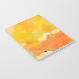 abstract spring sun Notebook