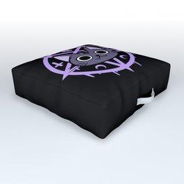 Black Meowgic 03 Outdoor Floor Cushion