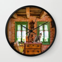 Rustic Country Charm by Liane Wright Wall Clock
