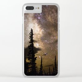 Mountain Milky Way Clear iPhone Case