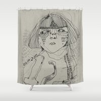workout Shower Curtains featuring Workout by ahyeongcho