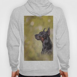 Drawing Doberman dog 2 Hoody
