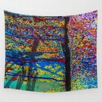 chaos Wall Tapestries featuring Chaos by Claire Doherty