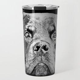 Rottweiler Drawing By Annie Zeno Travel Mug