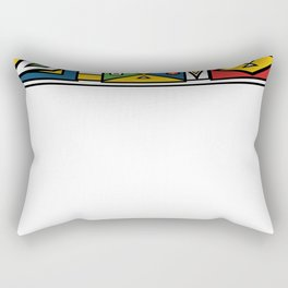 African colourful prints of geometry Rectangular Pillow