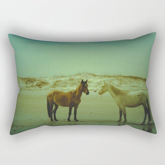 Wild Horses of Cumberland Island Rectangular Pillow
