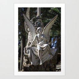 Angel Grave II Art Print