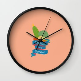 Vegetables Superfood T-Shirt for all Ages D4oth Wall Clock