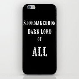 Doctor Who Stormageddon Dark Lord of All iPhone Skin