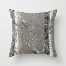 Silver Steel Abstract Metal Background Throw Pillow