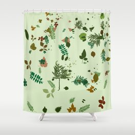 Foliage Leaves Nature Autumn Fall Trees Plants Shower Curtain