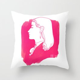 Pink Victorian Throw Pillow
