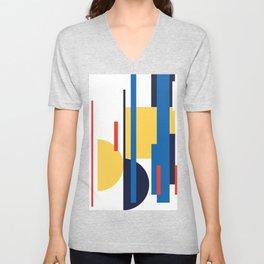 Mid Century Bauhaus #17 Unisex V-Neck